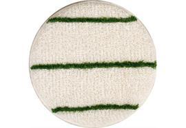 Textil-Pads weiss-grün, mit abrasiven Streifen, 43 cm