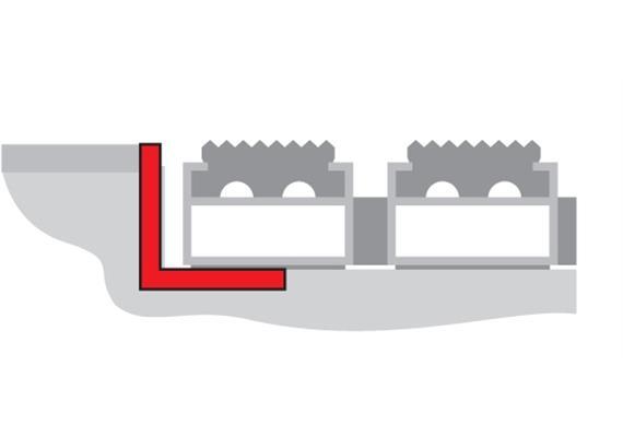 Basic Line cadre équerre en inox 20x20x3