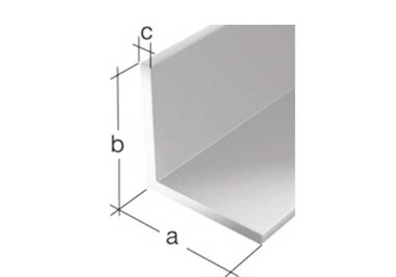cadre équerre en alu L-profile, 30/28/3 mm, support compris