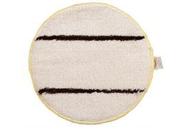 pad textile avec des bandes abrasive (blanc-brun) 43 cm