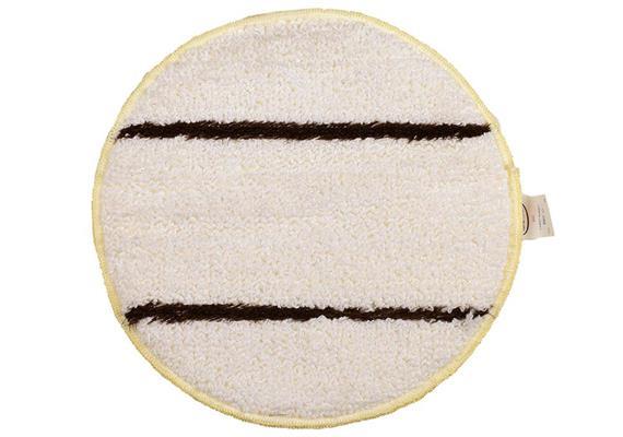 Pad textile blanc - brun (pour le feutre aiguilleté) Ø15cm